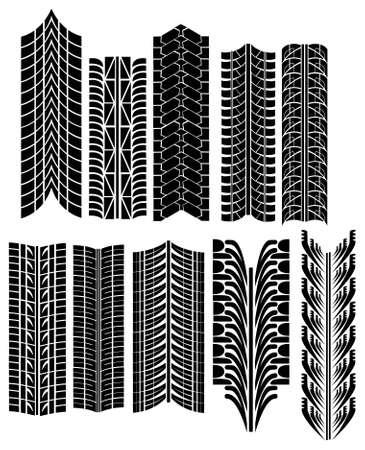 tire prints vector Vector