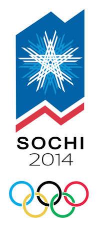 olympiad: vector winter olympiad symbol Sochi. Russia