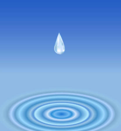 vector drop water Stock Vector - 6624549