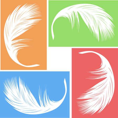 freedom logo: vector de plumas  Vectores