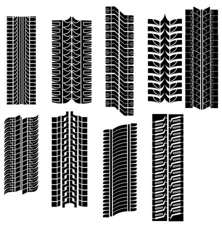 tread: tire prints vector