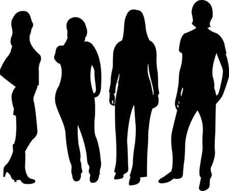 silueta masculina: silueta de personas de vector Vectores