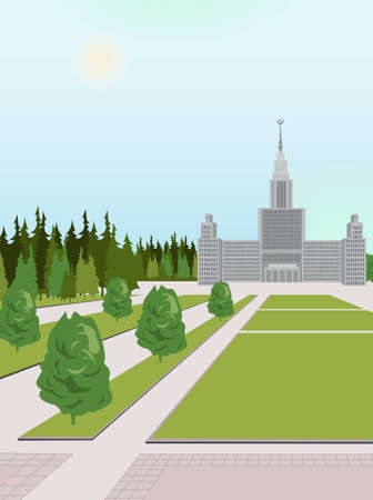 the empire state: moscow university vector