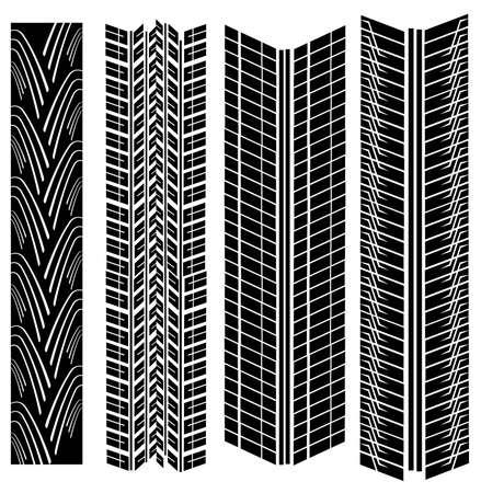 tread: tire prints vector