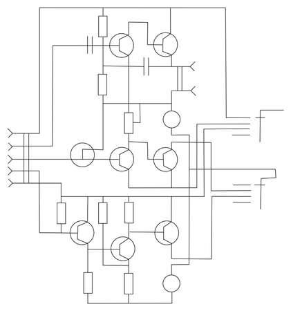 triode: scheme electronic vector