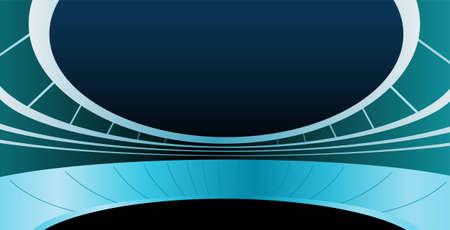 roof line: vector de estadio Vectores