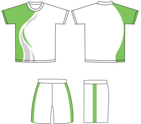 kurz: Shirt-Vektor Illustration