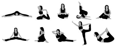 yoga girl vector 2 Stock Vector - 6628880