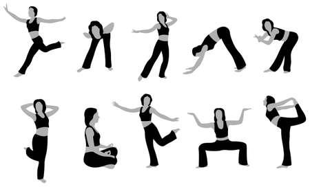 yoga girl vector 5 Stock Vector - 6624690