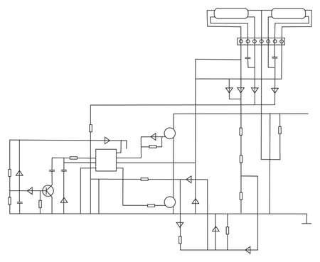 scheme electronic vector Stock Vector - 6627334