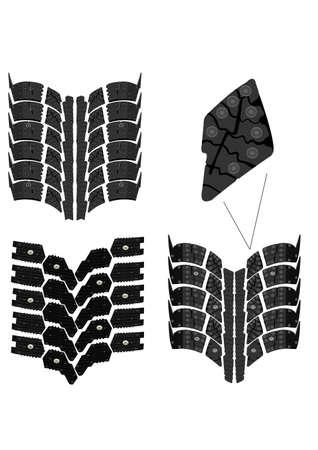 tire print high resolution vector Stock Vector - 6629953