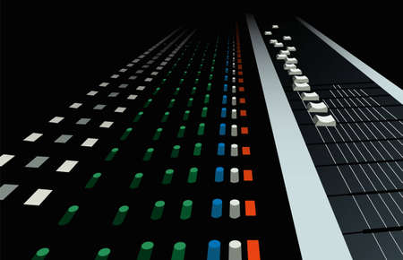mixing board: equalizer vector