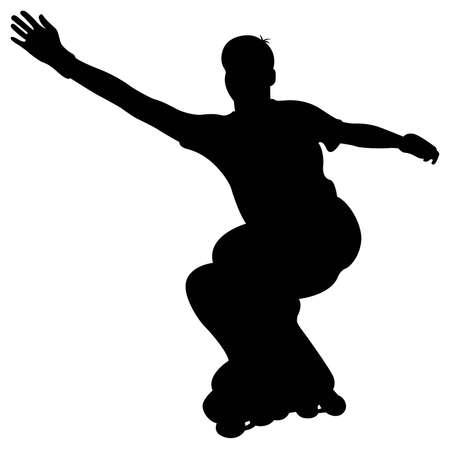 rollerblading: vector de rodillos