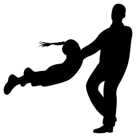 padre e hija: vector de rotar hija de padre