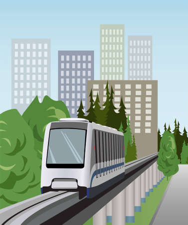 high speed train: monorail train vector