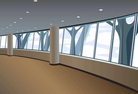 gran angular: interior de gran ventana vector