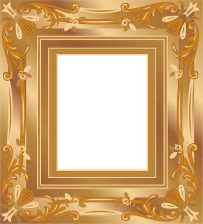 wine book: gold frame vector Illustration