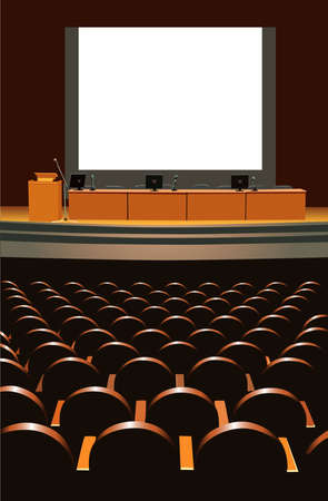 conference hall Stock Vector - 6629508