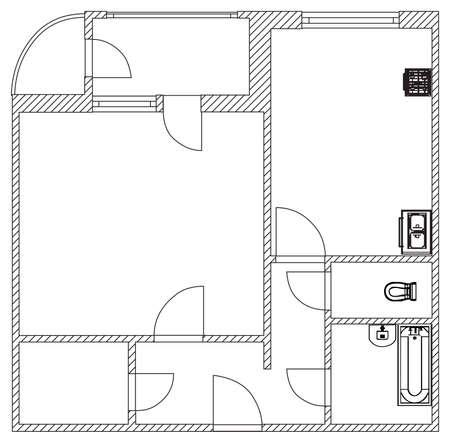 plan maison: maison plan vectoriel Illustration