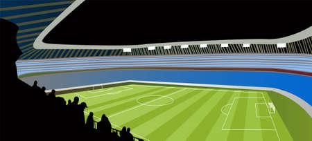 soccer stadium: vector de estadio de f�tbol Vectores