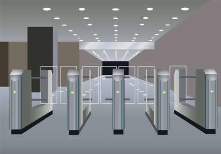 sub station: turnstile vector