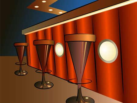 bar interior: bar interior vector Illustration