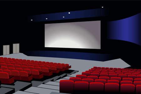 cinema auditorium: cinema interior vector Illustration