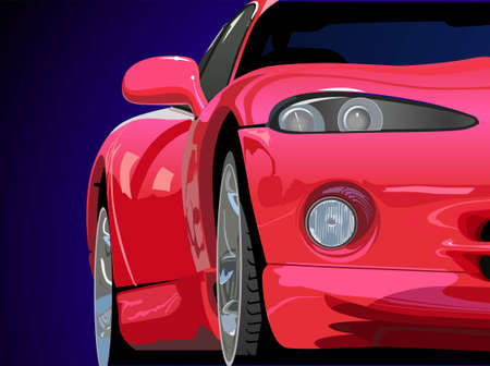 red sport car vector Stock Vector - 6629645