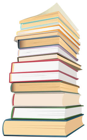 library book: books stack vector