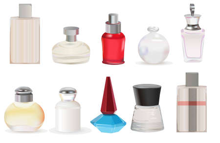 lotion bottle: perfume vector