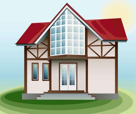 housing plan: house vector