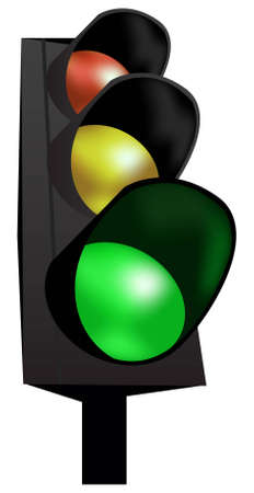 allow: traffic lights vector Illustration