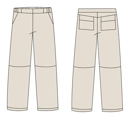 white pants: trousers vector Illustration