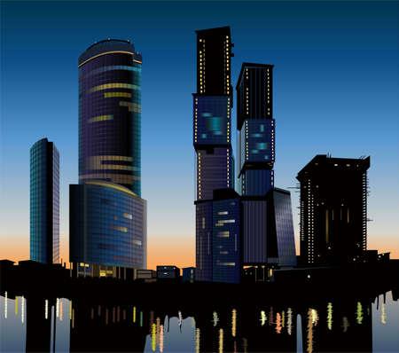 skyscraper construction vector Vector