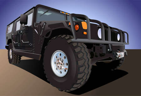 off road: offroad car vector