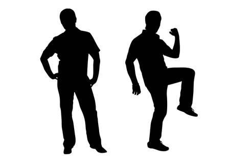 guy standing: man silhouette vector