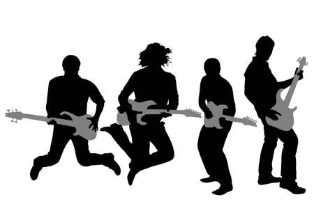 guitar player: guitarist silhouette vector