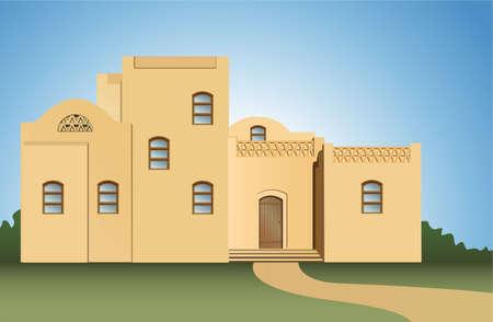 arabic house vector