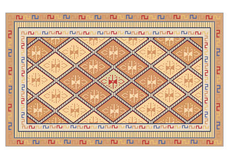 ceiling texture: oriental carpet vector