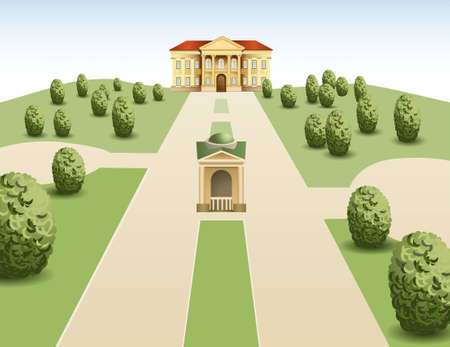 manor: park mansion vector