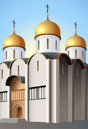 cupola: Moscow church vector