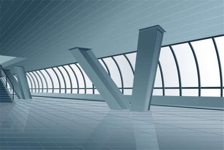 modern building interior vector Stock Vector - 6629269