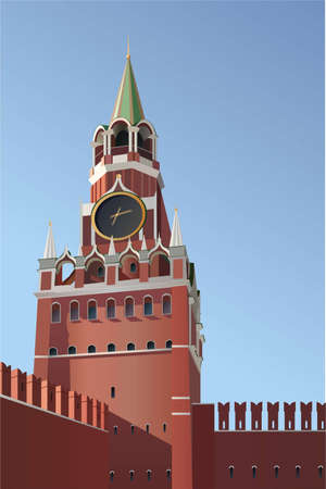 the kremlin: kremlin tower Moscow vector Illustration