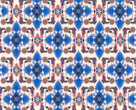 orientalische blau weiß Teppich Vektor
