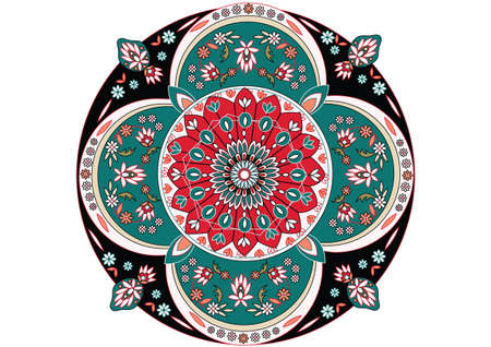 turkish rugs: oriental ornament vector Illustration