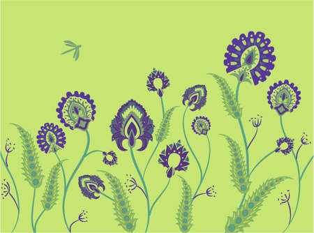 grass ornament vector Stock Vector - 6629503