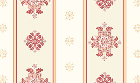 victorian textile: ornamental wallpaper vector