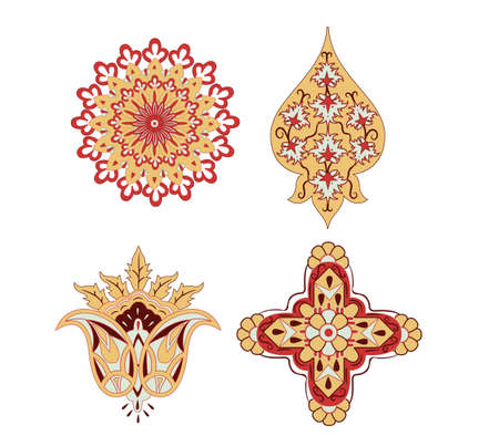 drapery: oriental elements rosace vector Illustration