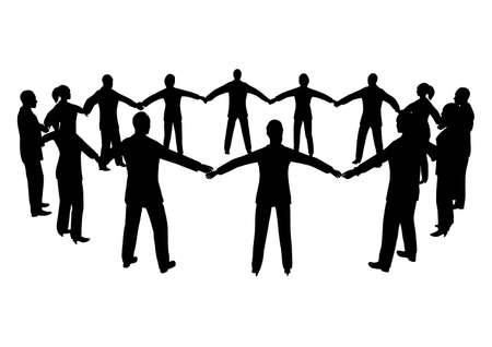 social gathering: people circle male female