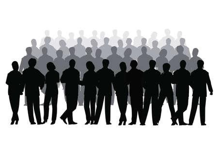 Folla di affari vettoriale di riga diverse